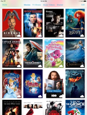 Comparison: Movie covers on iPad Air