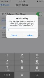 iPhone Code Prompt