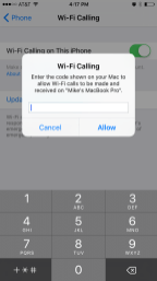 iPhone Code Prompt