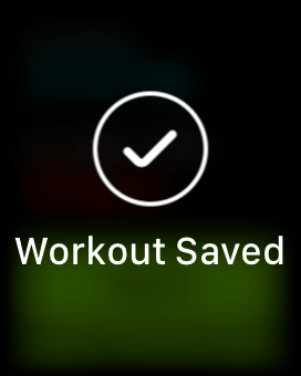 Save Apple Watch Workout