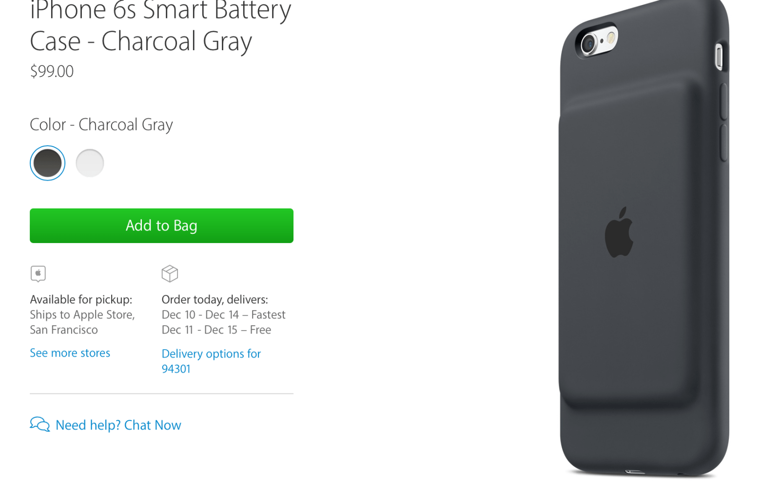 buy online 0fd8f 49293 Apple releases $99 iPhone 6s Smart Battery Case, Apple's first ...