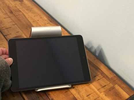 iPad Mini is too small to fit into the Zand in landscape orientation.