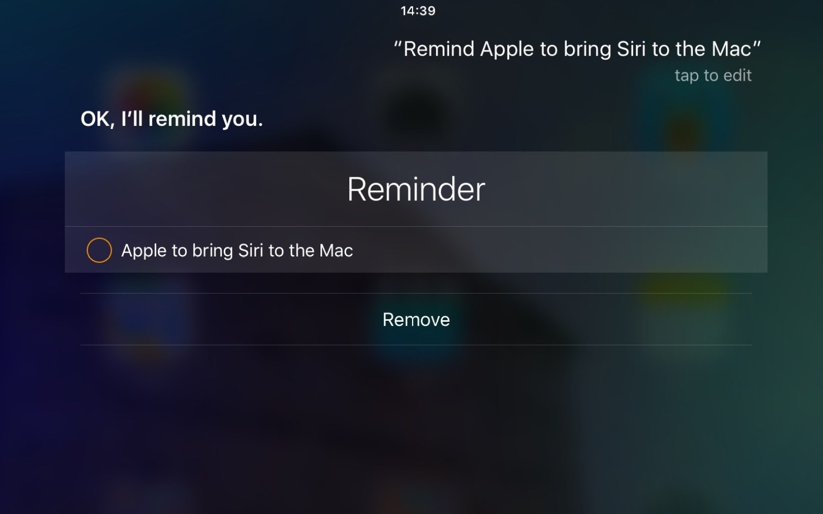Feature Request: Apple, please bring Siri to the Mac