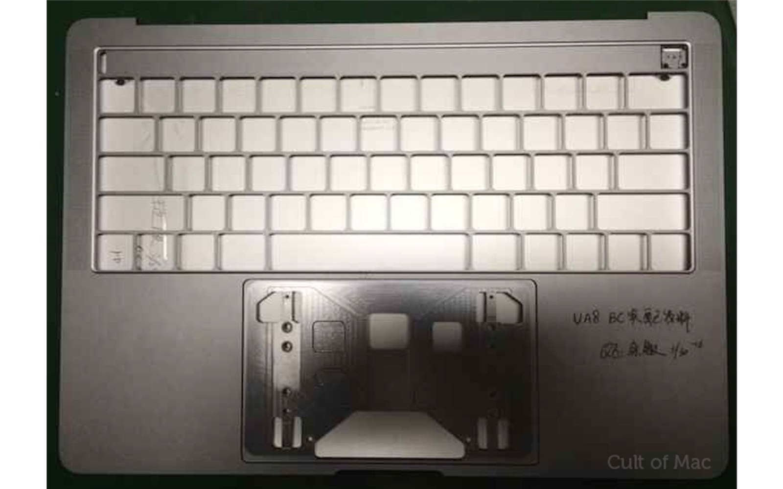 Leaked images claim to show MacBook Pro with OLED touch bar cutout, four USB-C ports