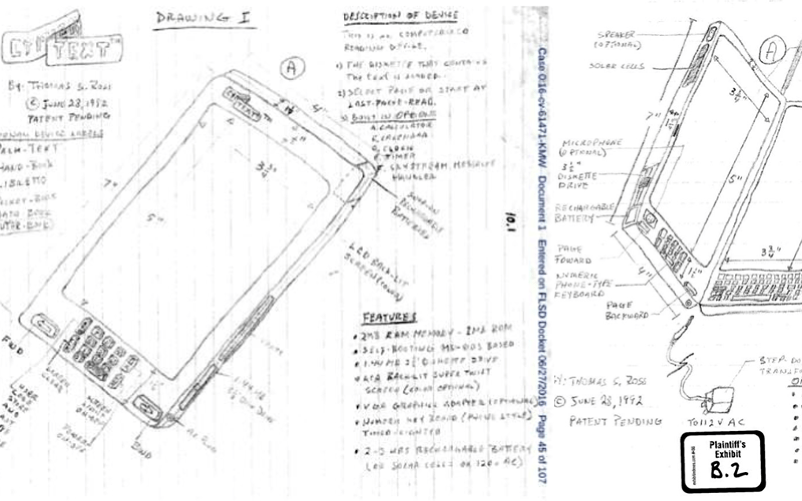 The craziest patent claim yet: $10B for child-like 'iPhone' sketches from 1992
