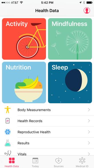 Health - main view