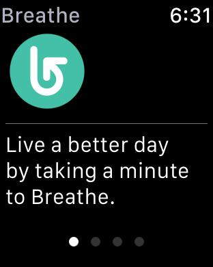 watchOS 3 Breathe - View 1