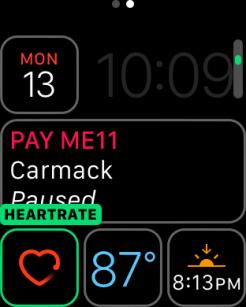watchOS 3 Complication - Heartrate