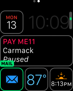 watchOS 3 Complication - Mail