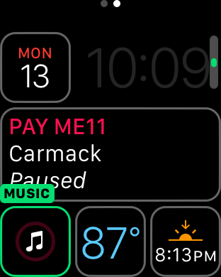 watchOS 3 Complication - Music