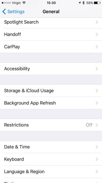 Choose Accessibility in Settings -> General.