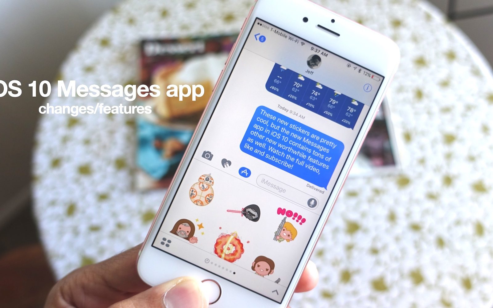 Ios 10 How To Use Stickers Imessages Apps Digital Touch Rich Opinions On Electronics Links And More In The New Messages App Video