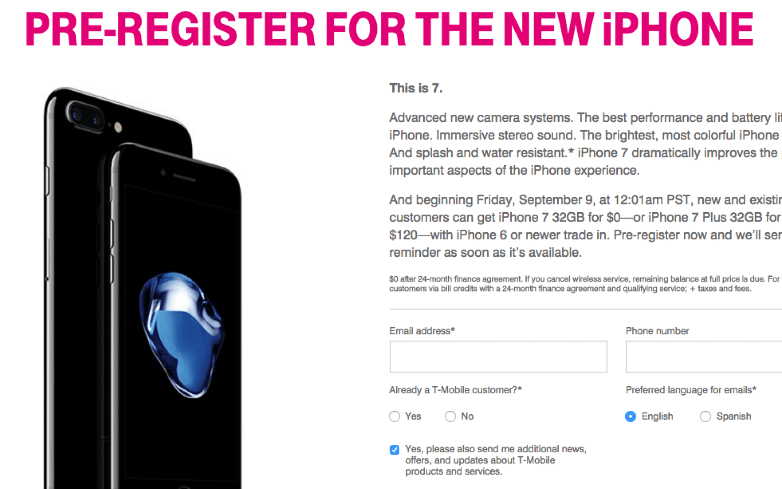 T-Mobile offers free iPhone 7 to anyone who trades in an iPhone 6/s, deal starts tomorrow alongside pre-orders