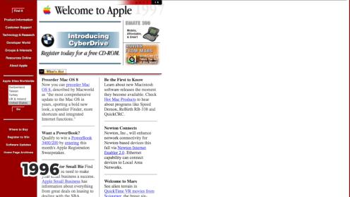 Apple.com, 1996