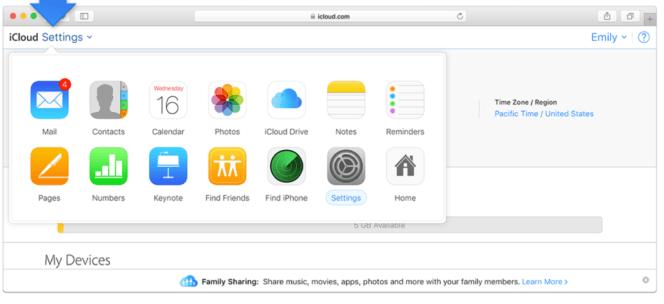 Previous iCloud.com interface