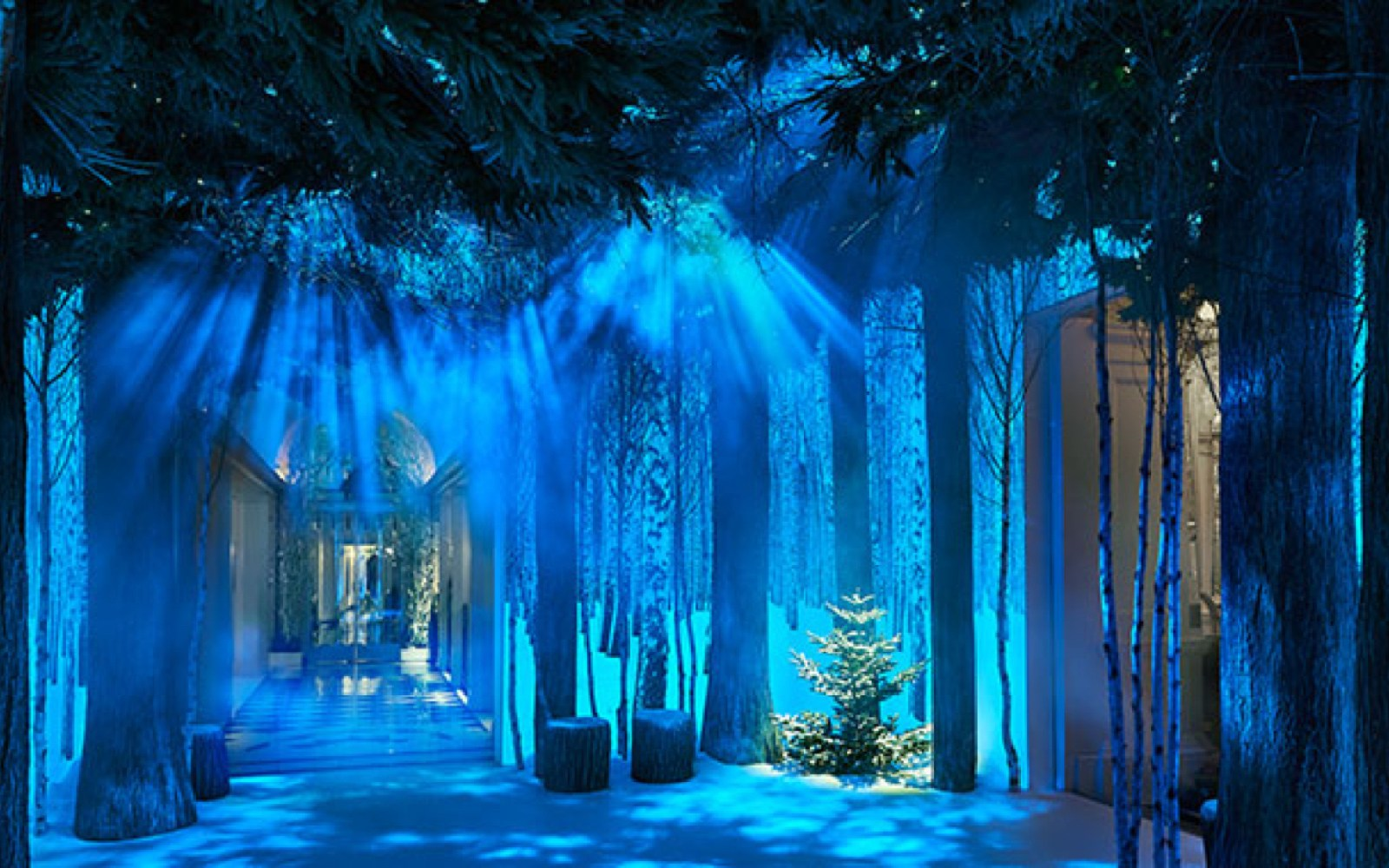 Claridges hotel unveils Christmas tree festive installation designed by Jony Ive and Marc Newson