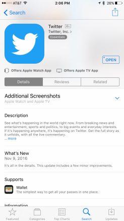 Twitter iOS App Store Additional Screenshots