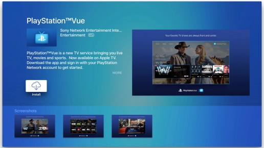 Image result for Apple's TV app gets live and on-demand shows with PS Vue integration