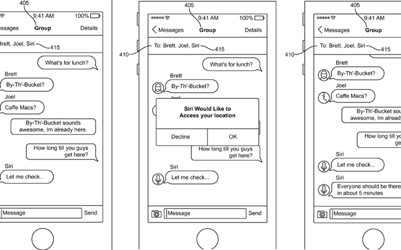 Apple patent shows Siri interjecting in iMessage chats, scheduling dinner & more