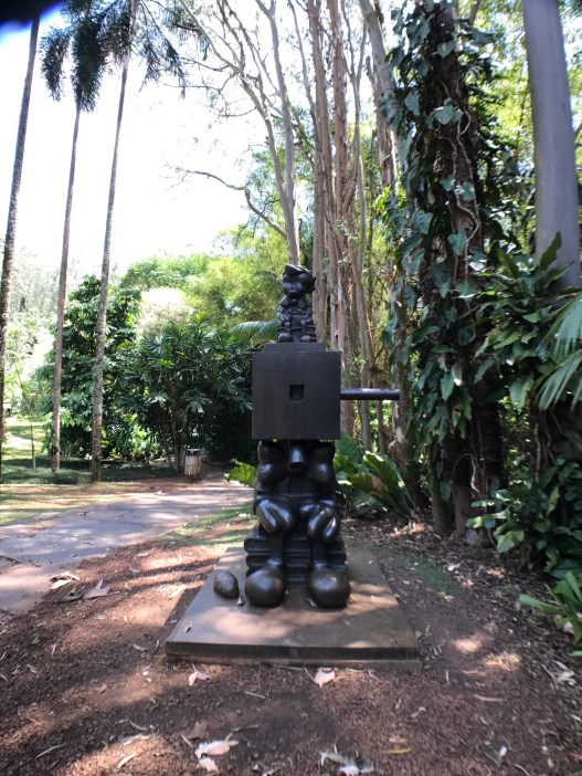Statue with Aukey lens