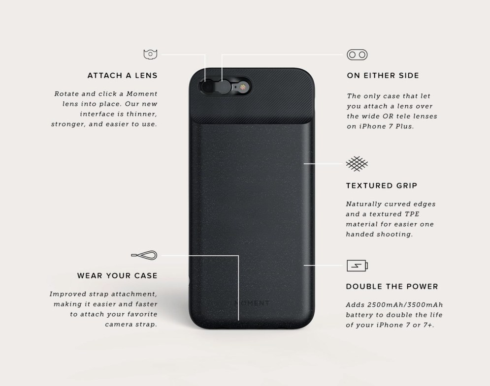 Moment Battery Photo Case Specs