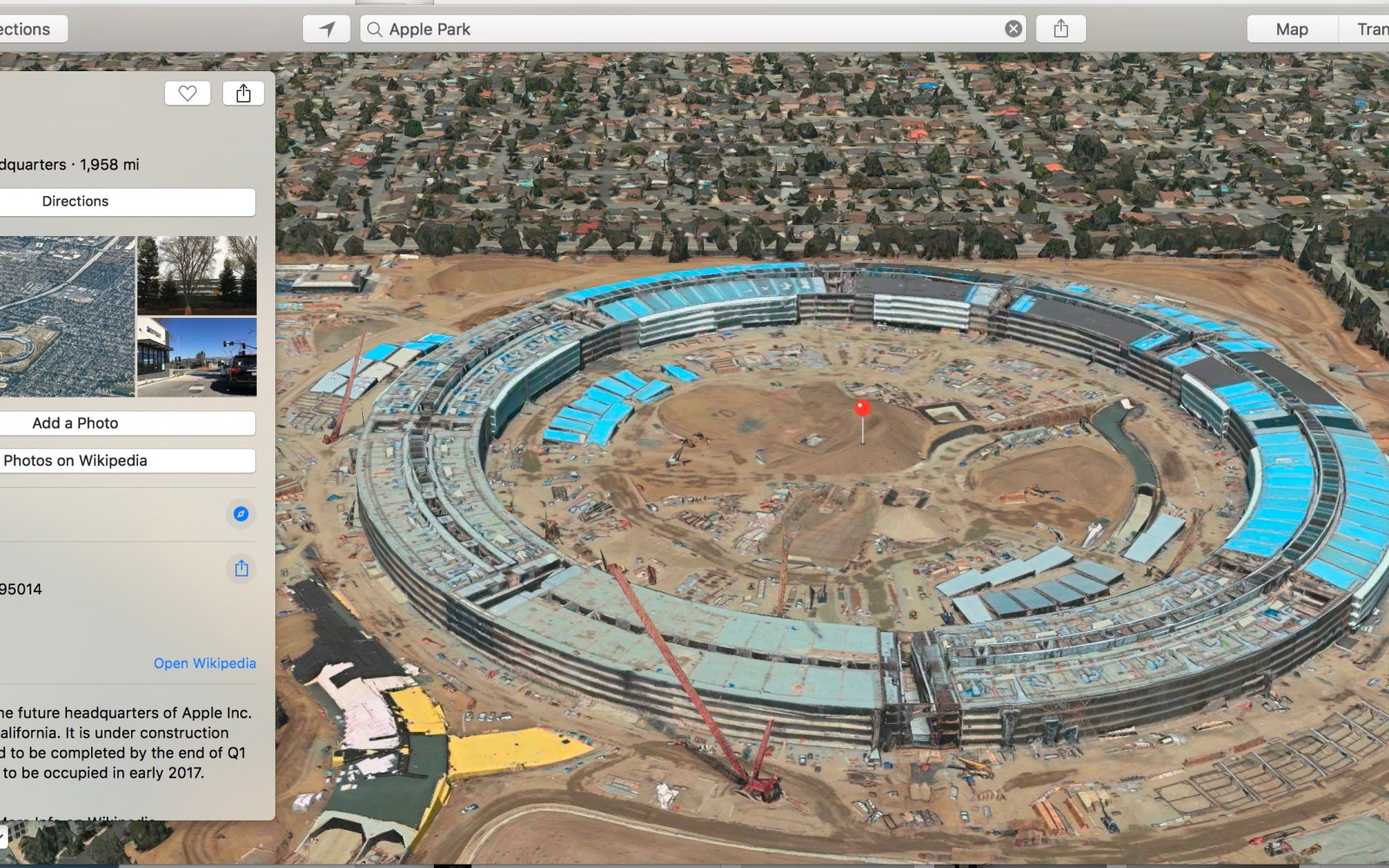 Apple Maps updated with proper Apple Park details and satellite imagery [Gallery]