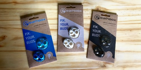 Earhoox in Blue, White, and Black