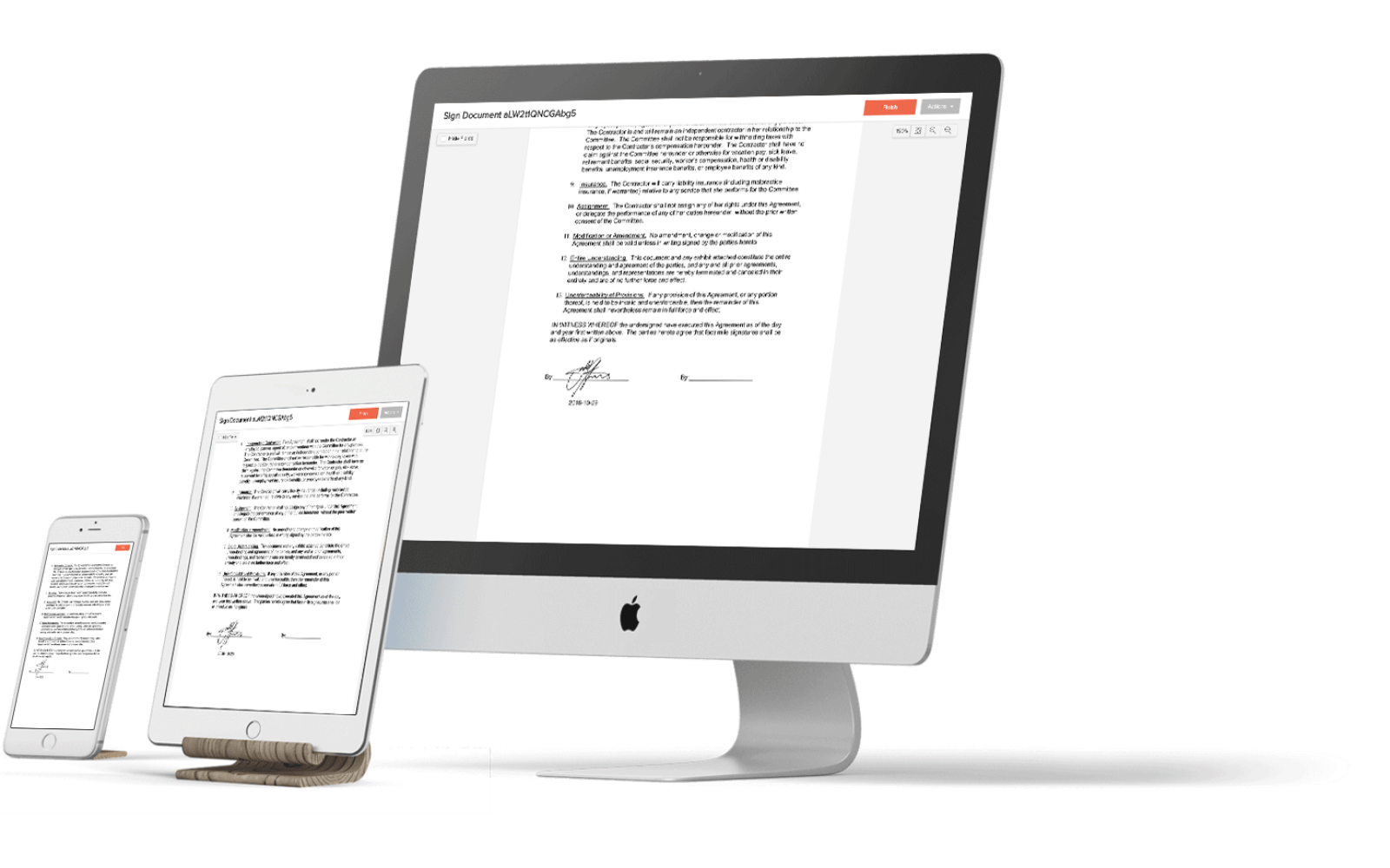 Eversign makes legally binding digital signatures online and in