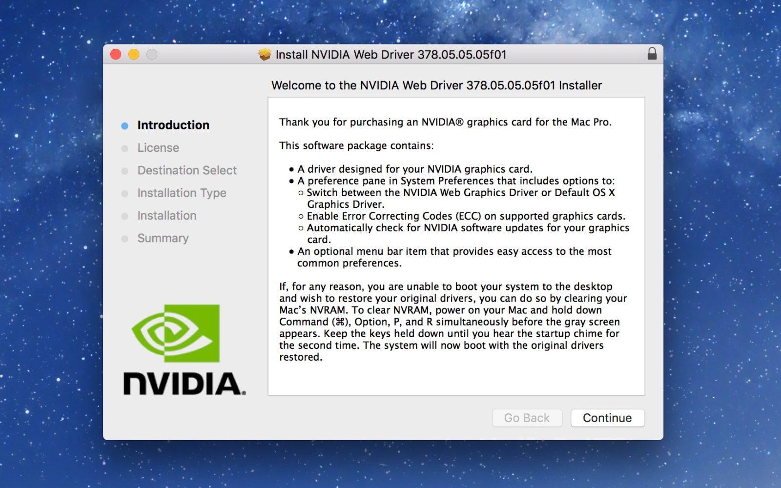 Nvidia releases beta Mac drivers for Pascal GPUs like the
