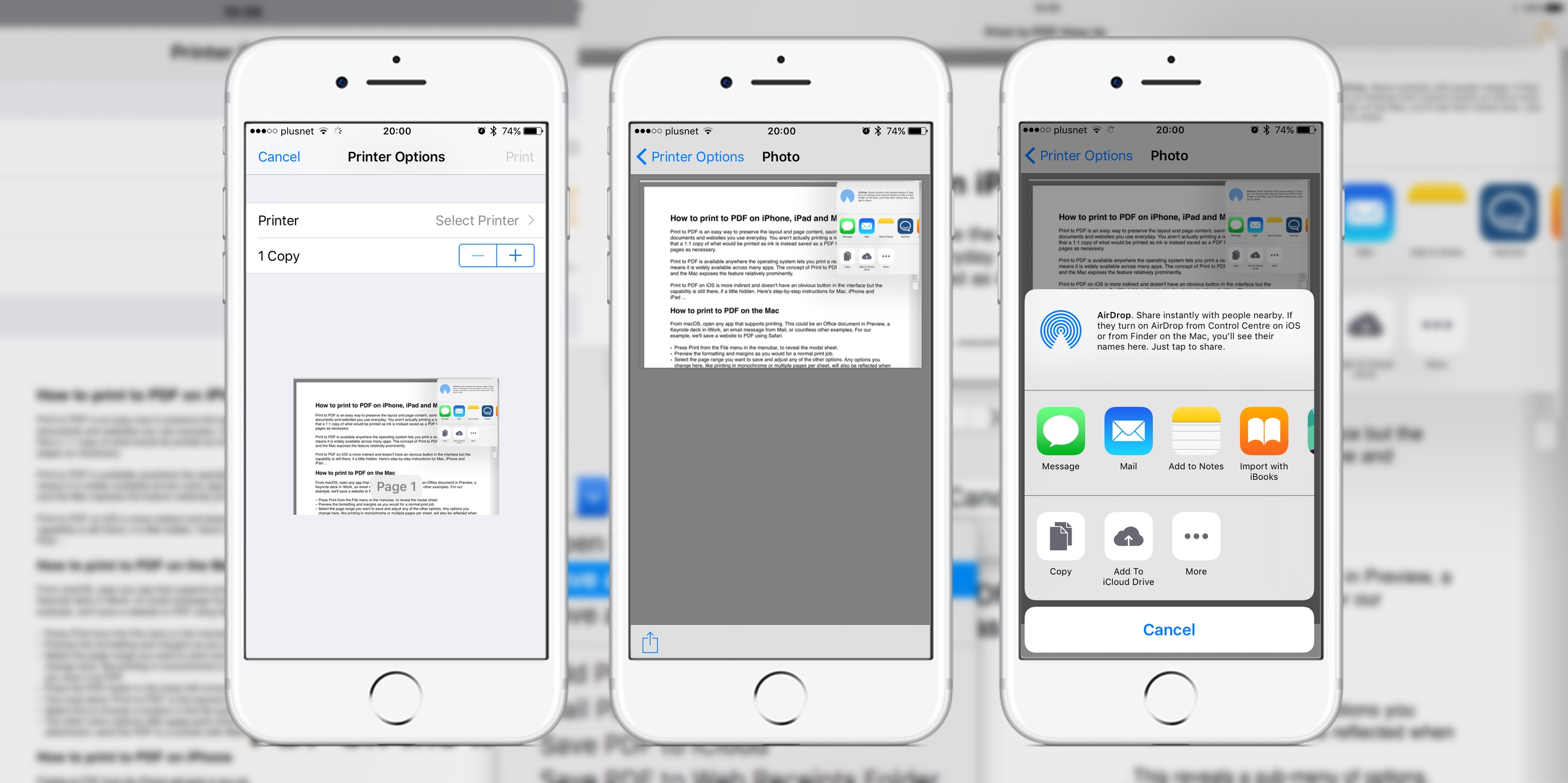 IPhone Text Messages: print or save to PDF your