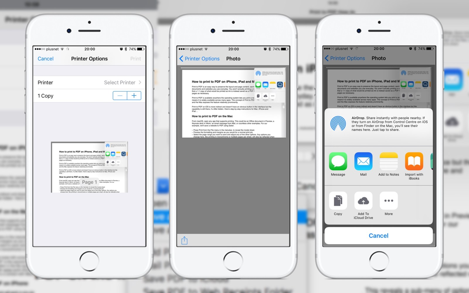 How to print to PDF on iPhone, iPad, and Mac