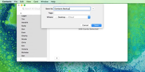 How to export contacts on macOS 2