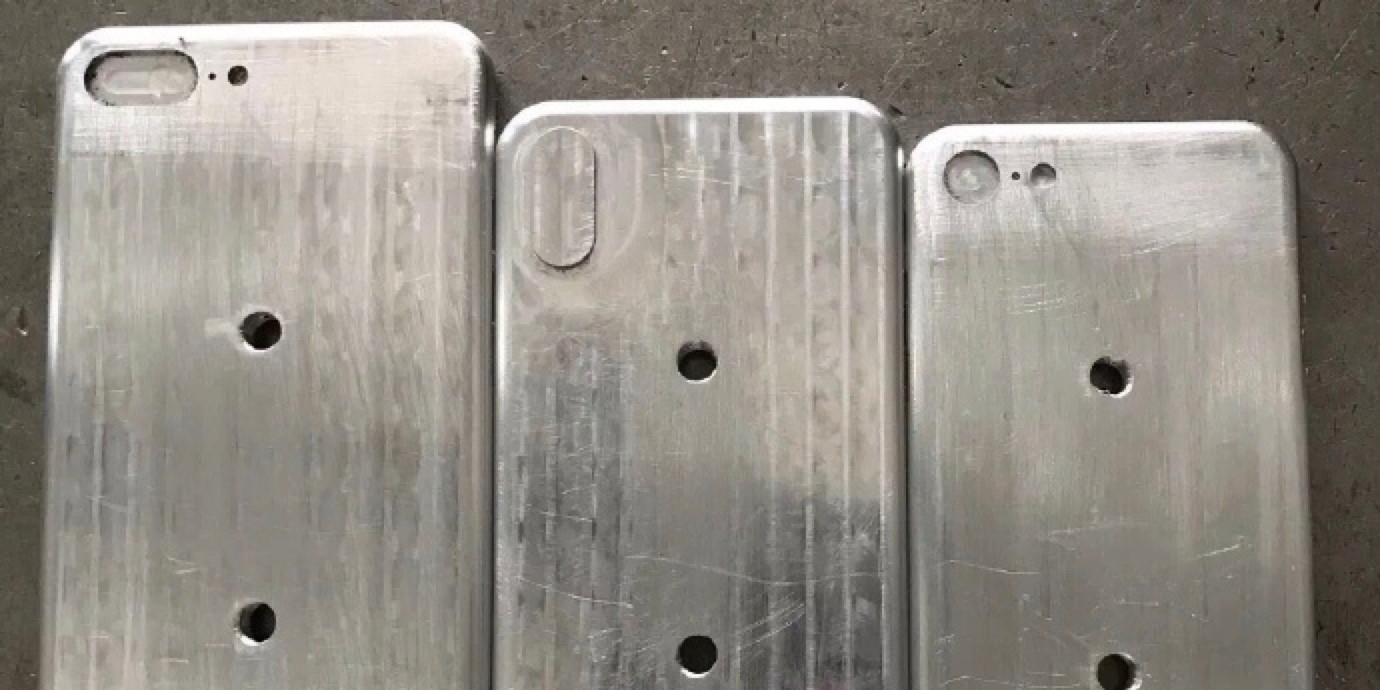 New photos show purported iPhone 8, iPhone 7s and iPhone 7s Plus molds side by side