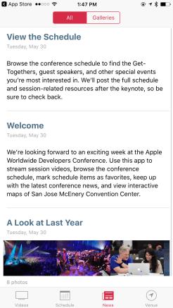WWDC 2017 App - News