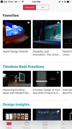 WWDC 2017 App - Videos