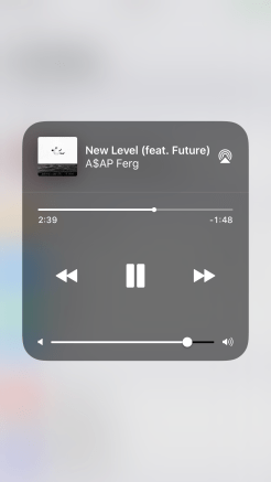 iOS 11 Control Center 3D Touch Music