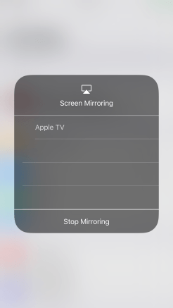 iOS 11 Control Center 3D Touch Screen Mirroring