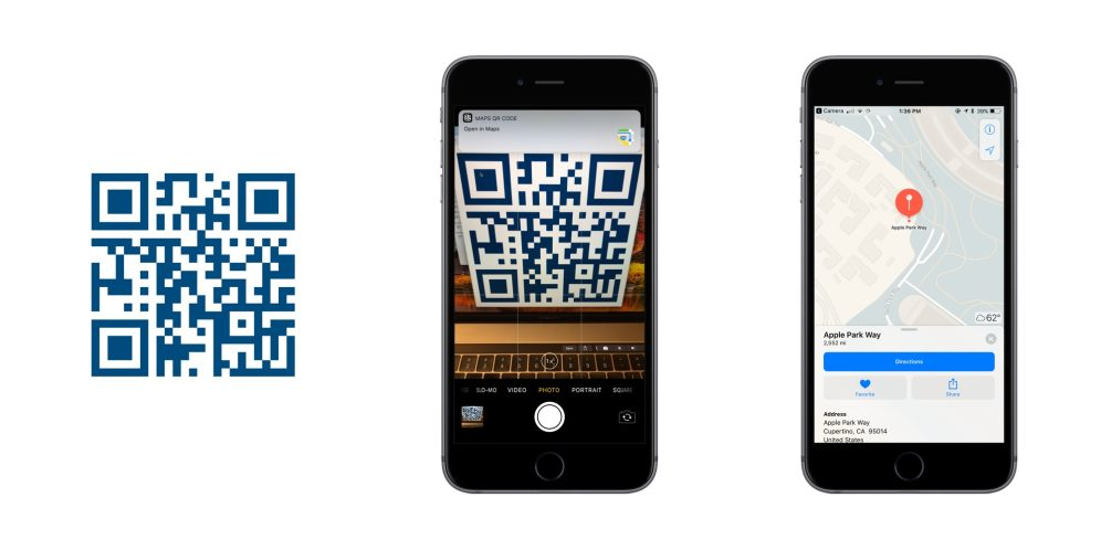 iOS 11 QR Codes Maps
