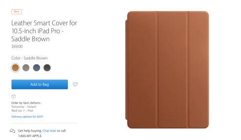 new leather iPad case