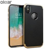 Olixar-X-Duo-iPhone-8-Case-Gold