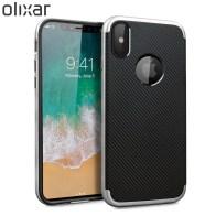 Olixar-X-Duo-iPhone-8-Case-Silver