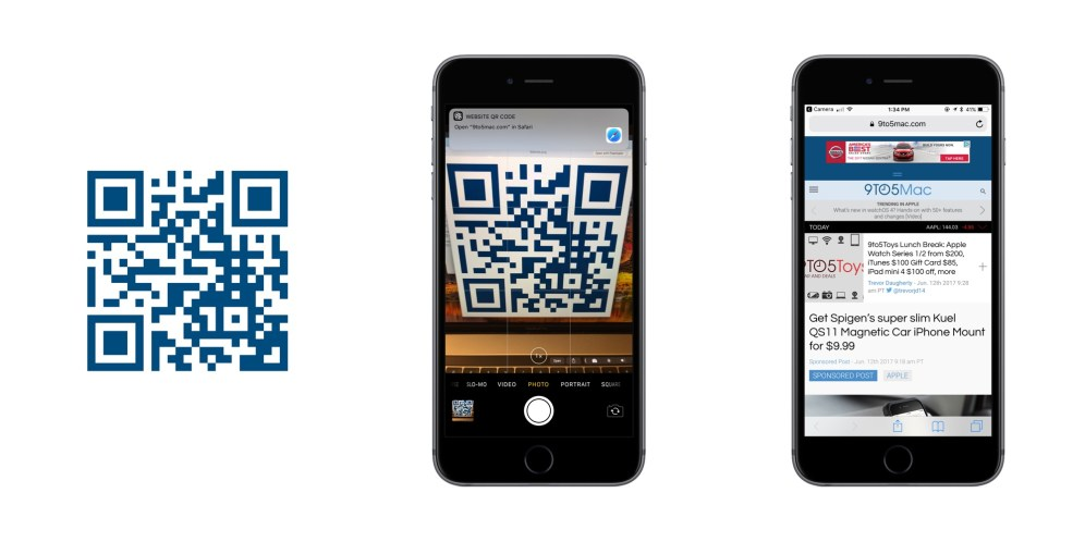 iOS 11 QR Codes Safari