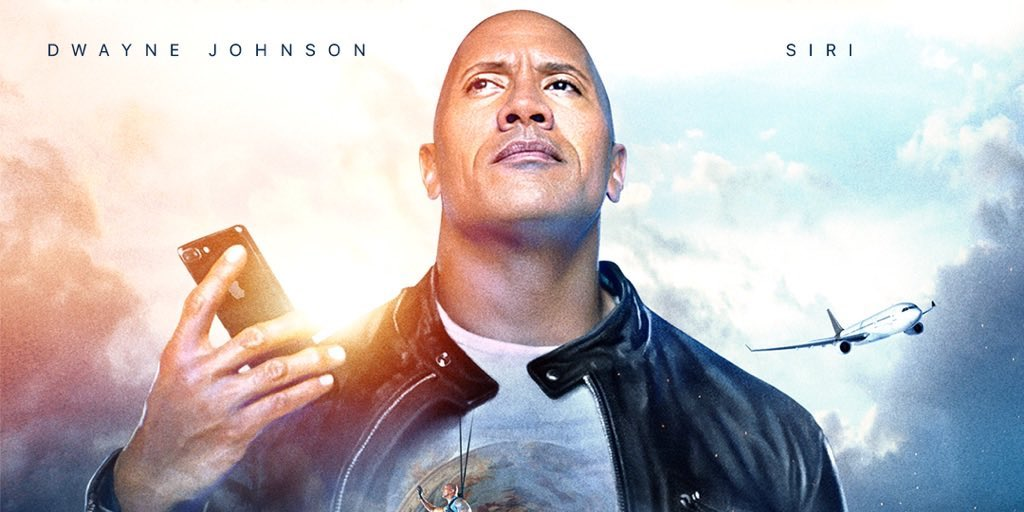 apple partners w dwayne the rock johnson for new movie ad co