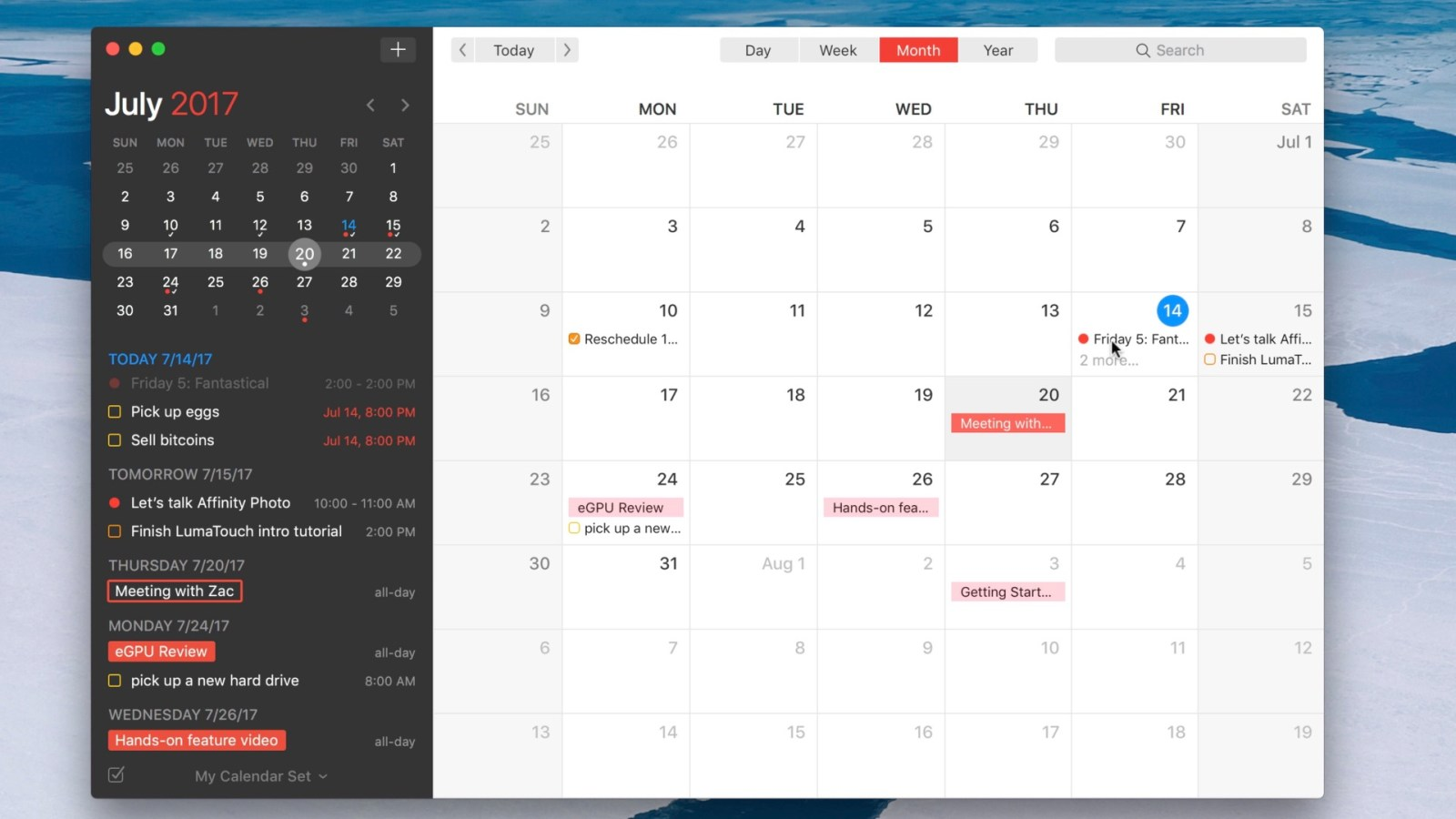 Friday 5: Fantastical 2 – a better way to manage calendars and reminders on your Mac [Video]