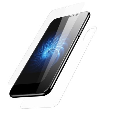 KuGi iPhone X Front & Back Glass Screen Protector