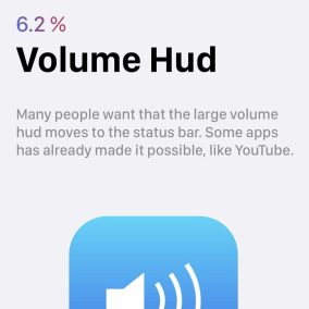 7 iOS 12 wishlist volume hud