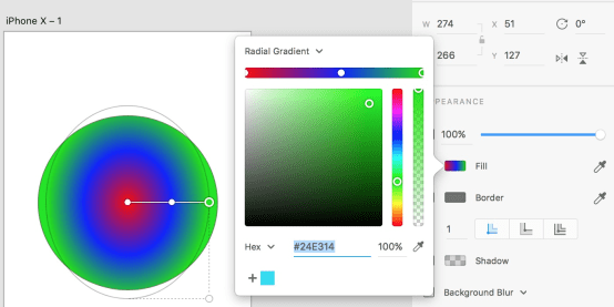 Radial Gradients - static