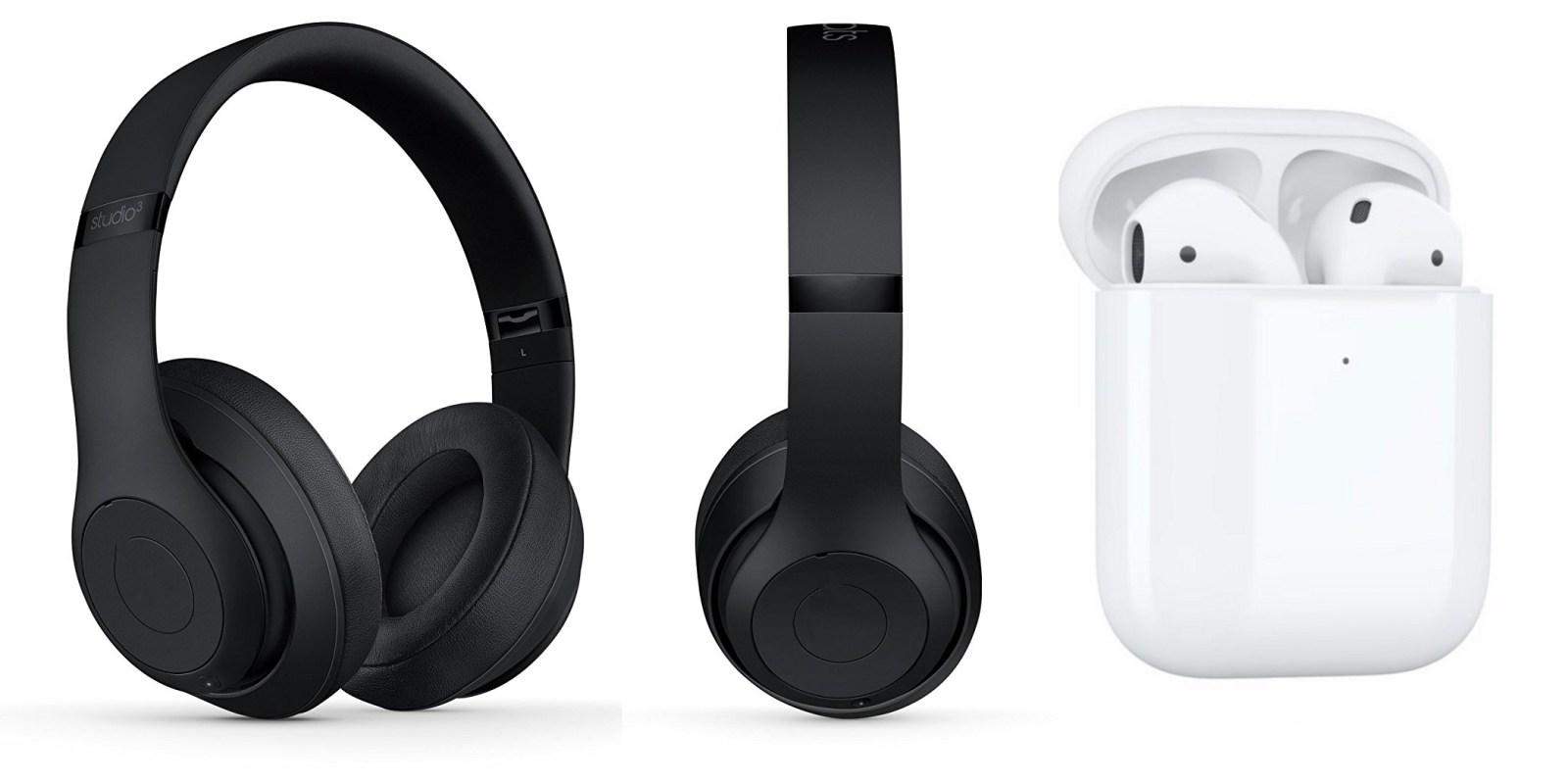 Beats Studio 3 y Apple AirPods