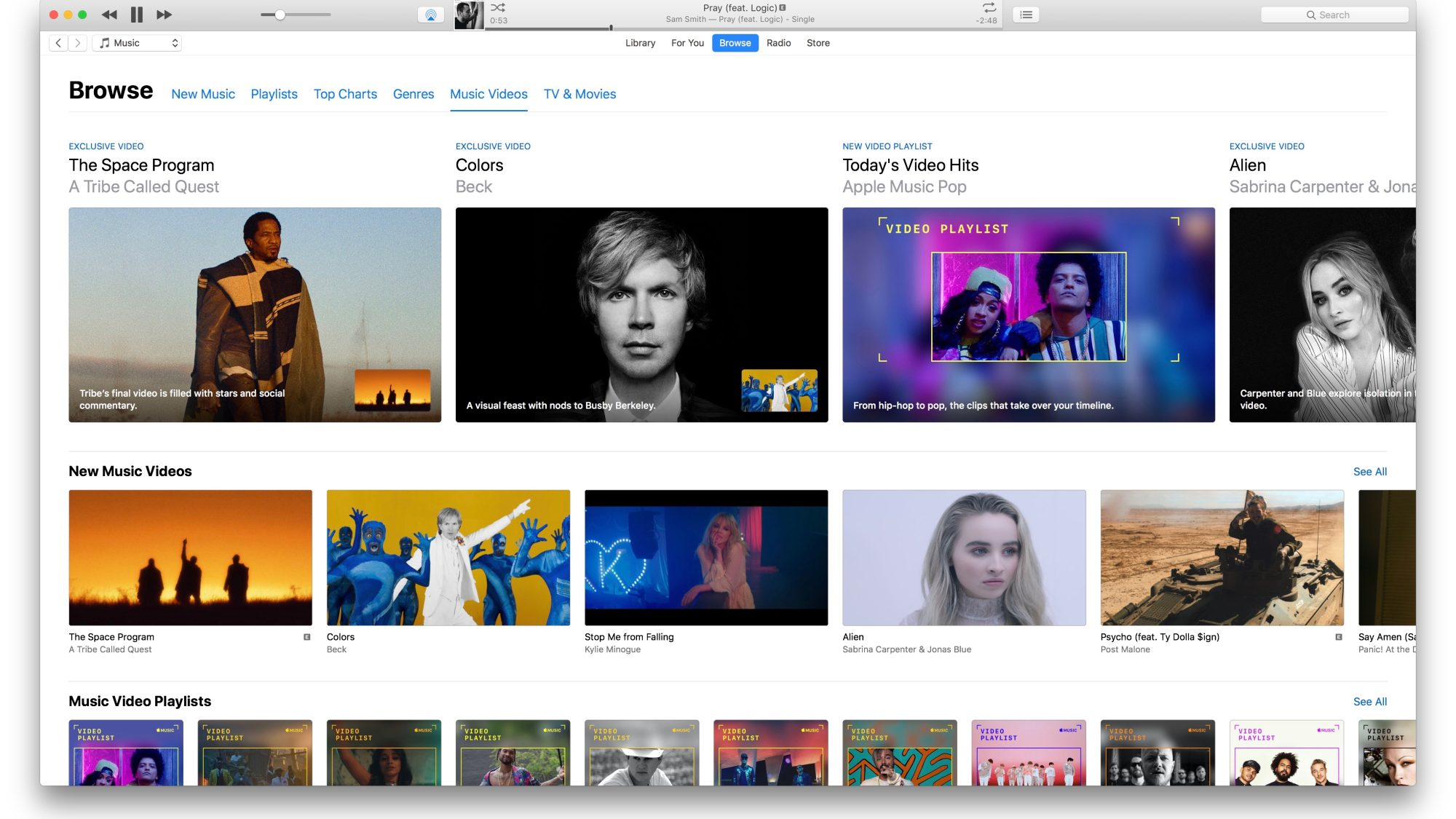 An image of iTunes, an alternative to Deezer.