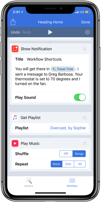 Siri Shortcuts with Workflow